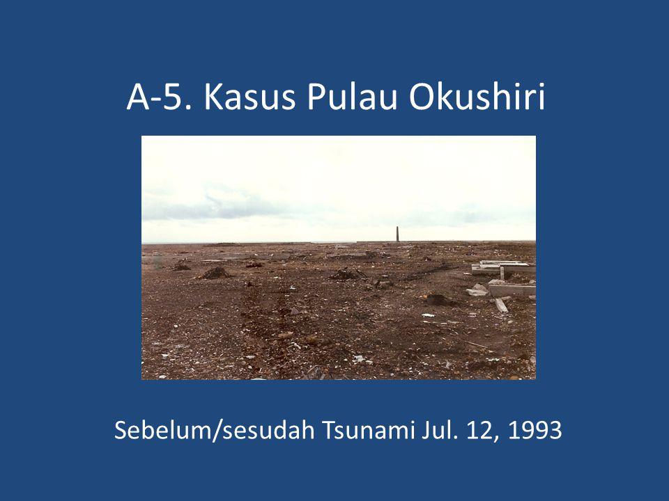A-5. Kasus Pulau Okushiri Sebelum/sesudah Tsunami Jul. 12, 1993