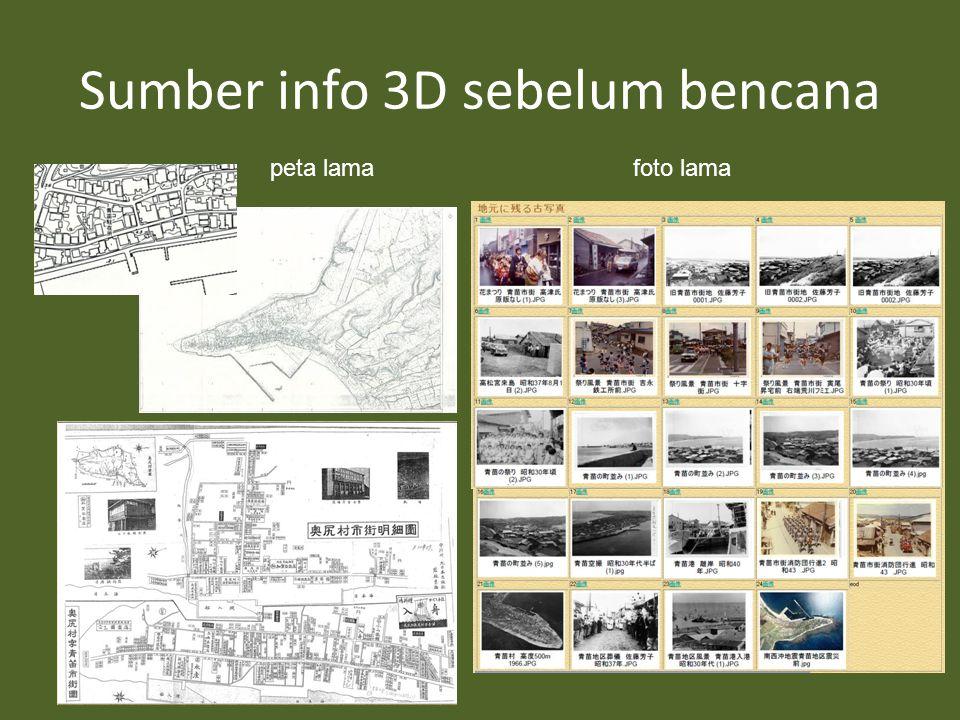 Sumber info 3D sebelum bencana peta lamafoto lama