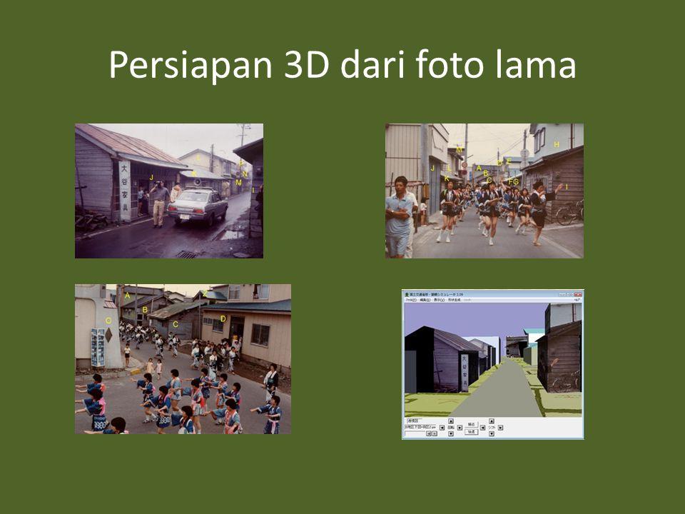 Persiapan 3D dari foto lama