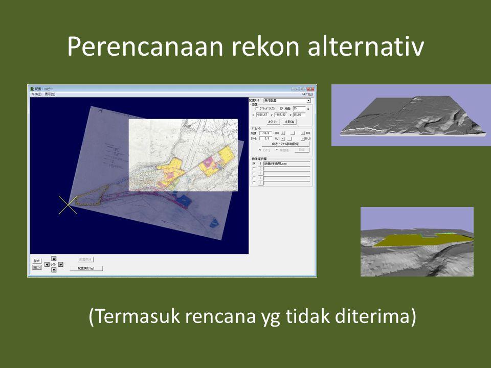 Perencanaan rekon alternativ (Termasuk rencana yg tidak diterima)