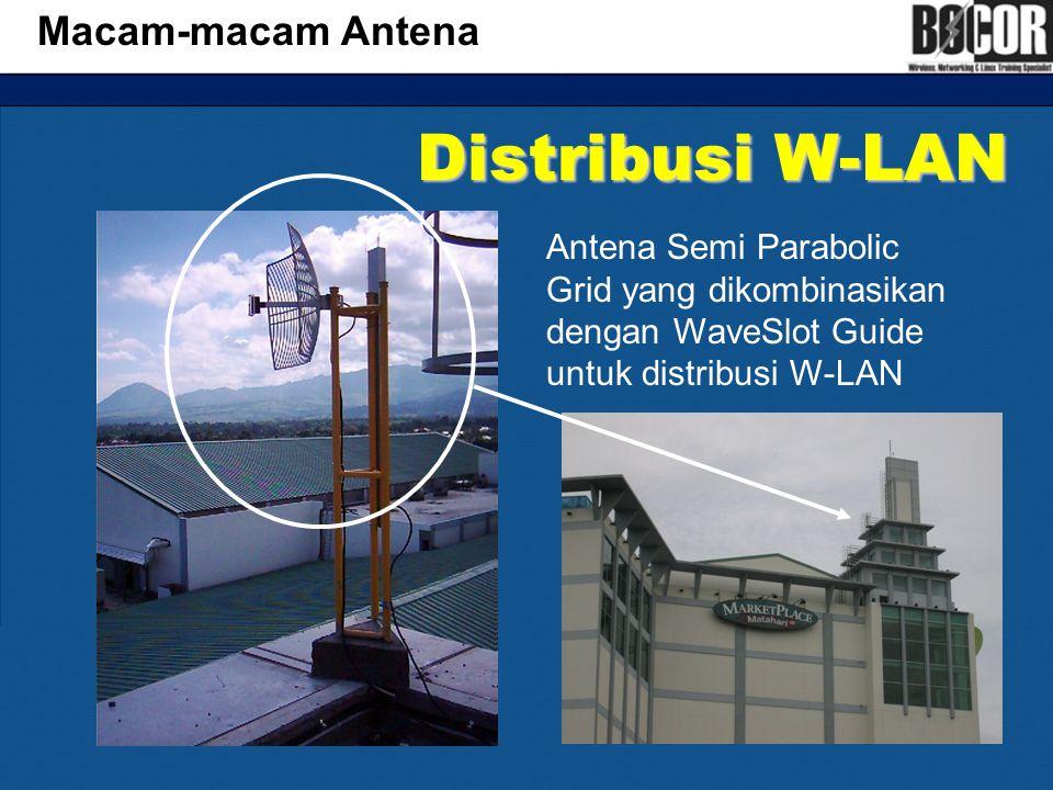 Distribusi W-LAN Macam-macam Antena Antena Semi Parabolic Grid yang dikombinasikan dengan WaveSlot Guide untuk distribusi W-LAN