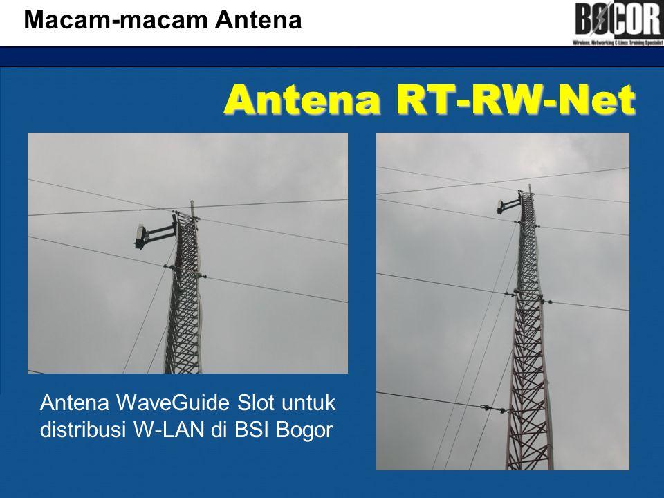 Antena RT-RW-Net Macam-macam Antena Antena WaveGuide Slot untuk distribusi W-LAN di BSI Bogor