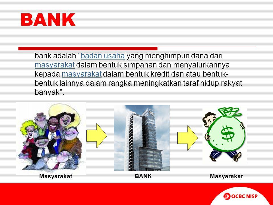 """BANK bank adalah """"badan usaha yang menghimpun dana dari masyarakat dalam bentuk simpanan dan menyalurkannya kepada masyarakat dalam bentuk kredit dan"""
