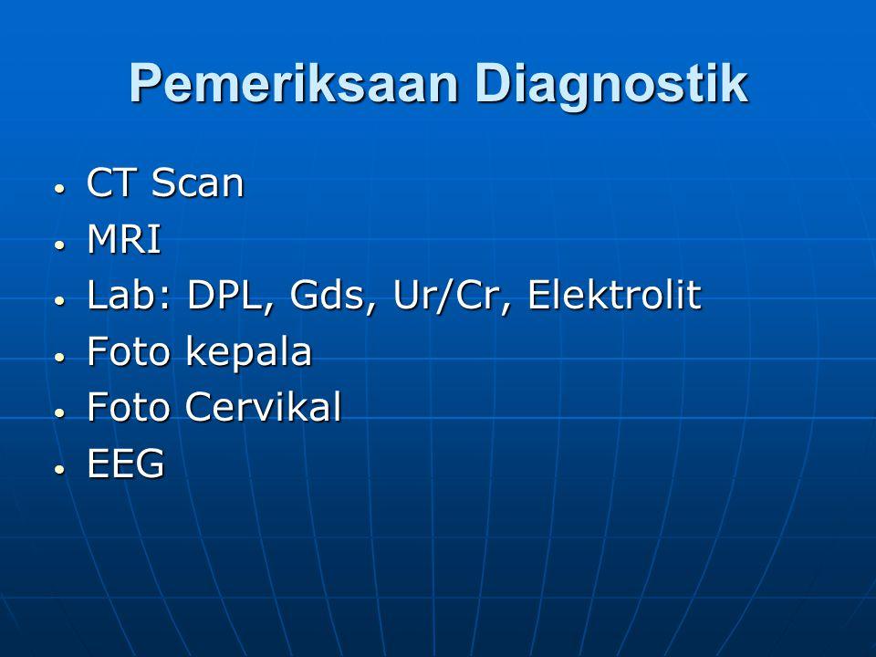 3. Cedra kepala berat * Lama penurunan kesardaran > 6 jam * Defisit neorologis (+) * CT Scan abnormal * LCS berdarah * Coma * TTIK