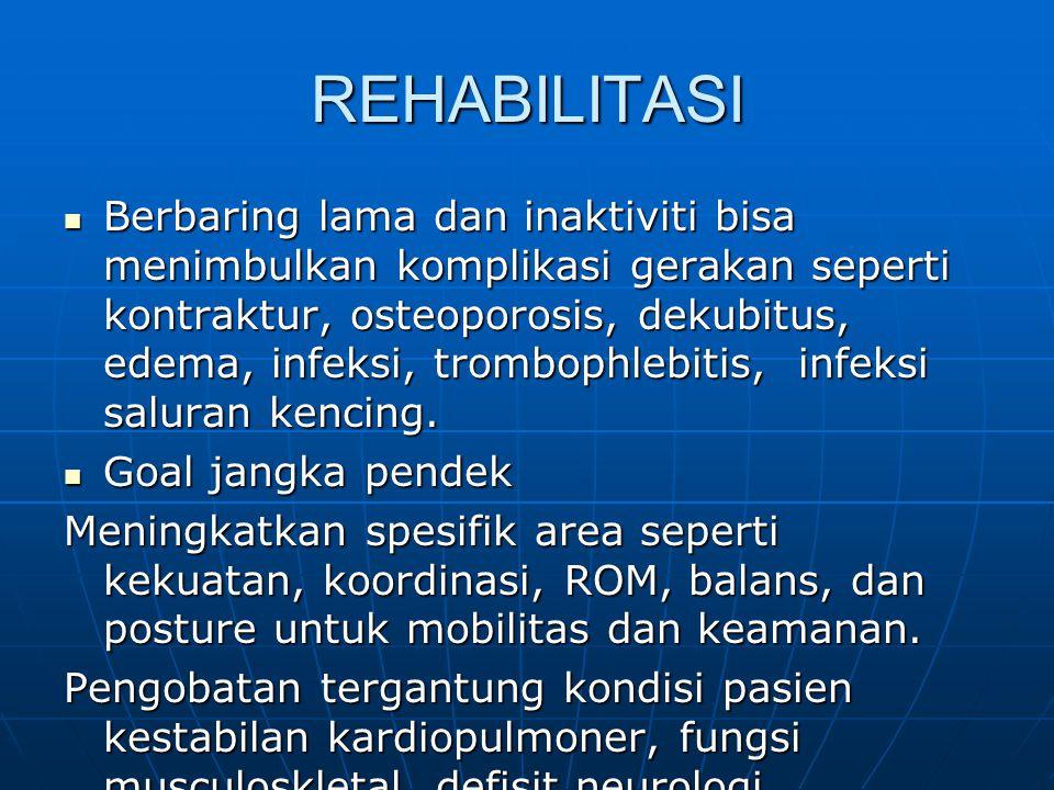 PENATALAKSANAAN CEDERA KEPALA Profilaksis: diberikan pada CK berat dengan fraktur impresi, hematom intrakranial, PTA yang panjang  Komplikasi sistemik Demam, Kelanan gastrointestinal, kelainan hematologis perlu ditanggulangi segera.