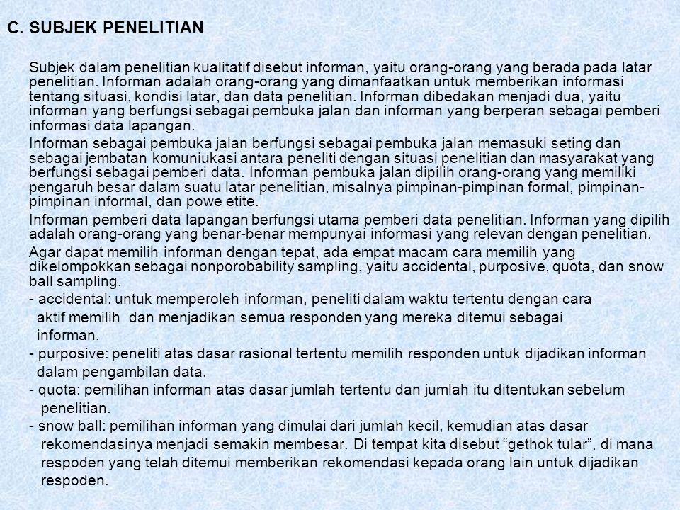 PENELITIAN TINDAKAN (ACTION RESEARCH) A.