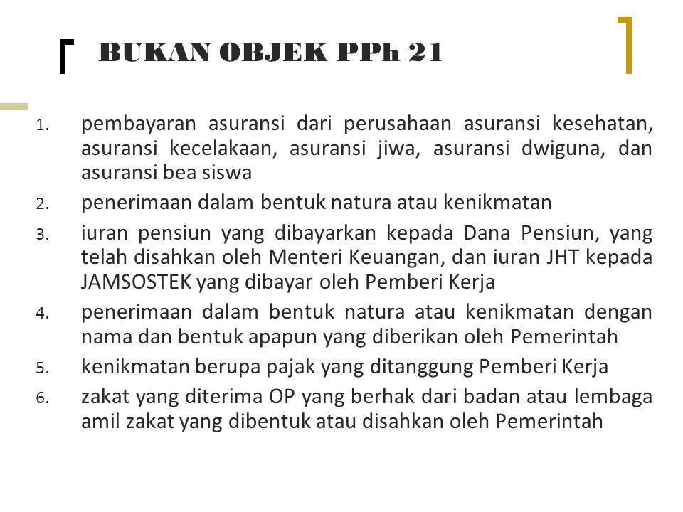 BUKAN OBJEK PPh 21 1.