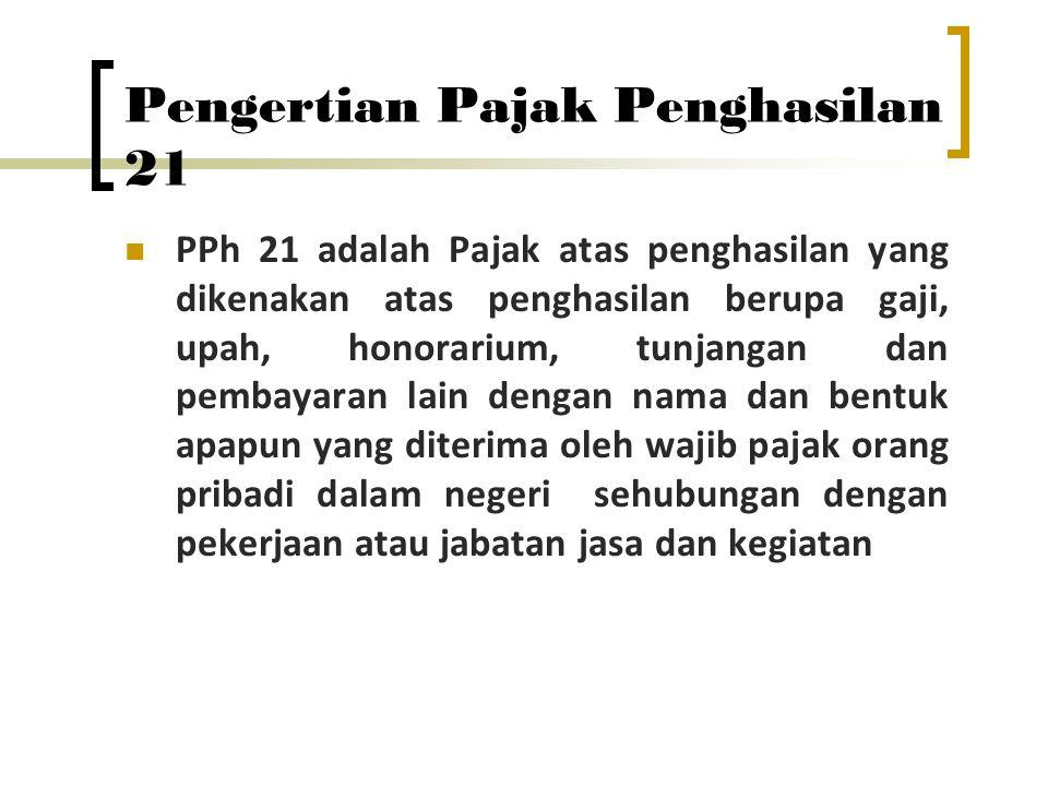 Tarif Pajak PPh Pasal 21/26 1.5% untuk penghasilan s/d Rp 50 juta 2.