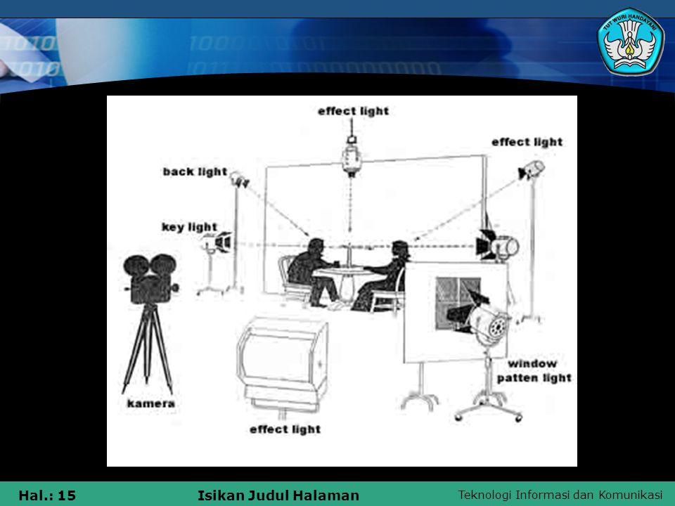 Teknologi Informasi dan Komunikasi Hal.: 15Isikan Judul Halaman