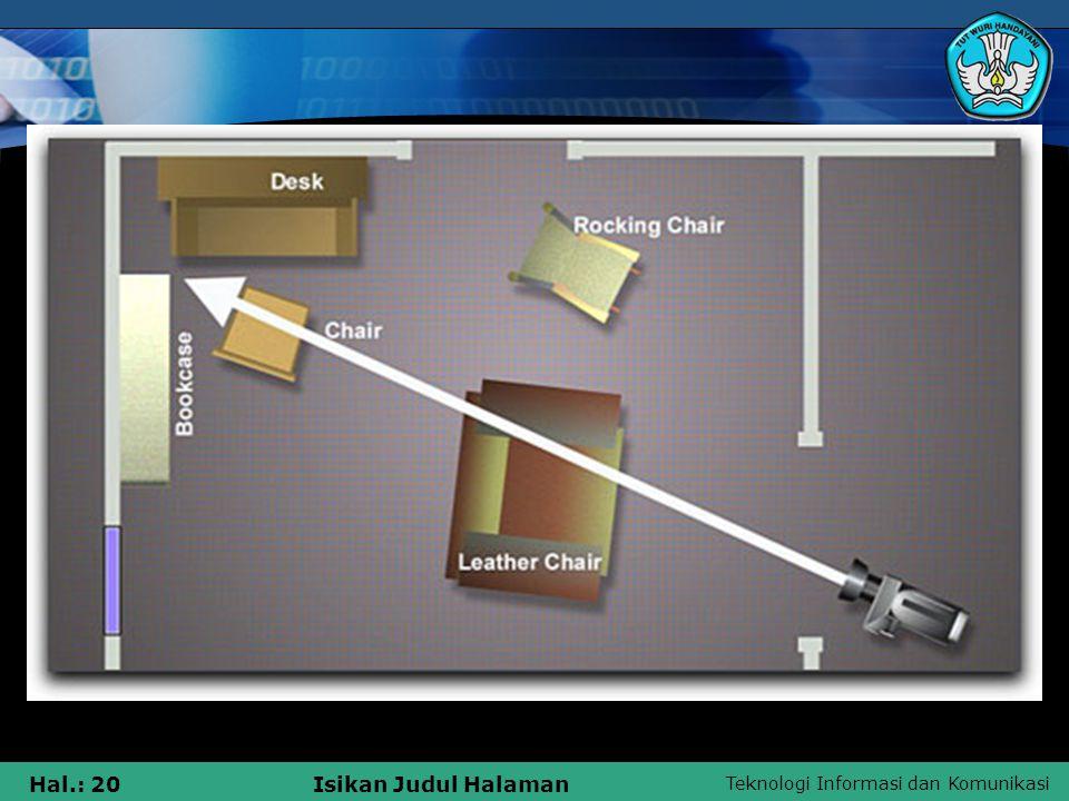 Teknologi Informasi dan Komunikasi Hal.: 20Isikan Judul Halaman