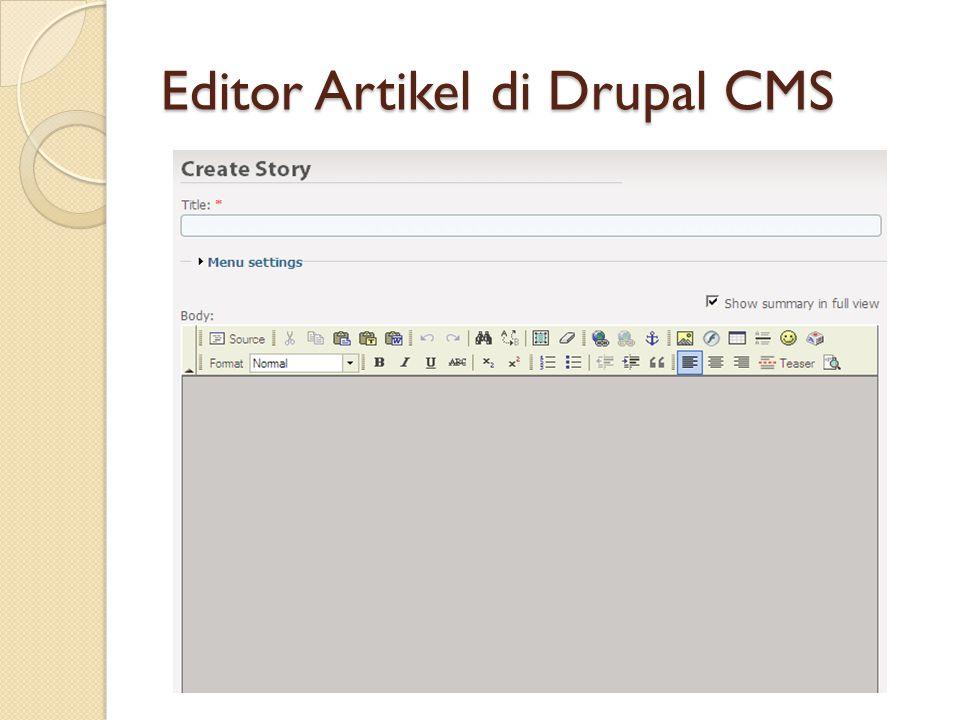 Editor Artikel di Drupal CMS