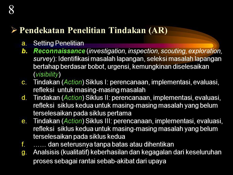 FORMAT UMUM PENELITIAN 4 18 Oleh: Dr.