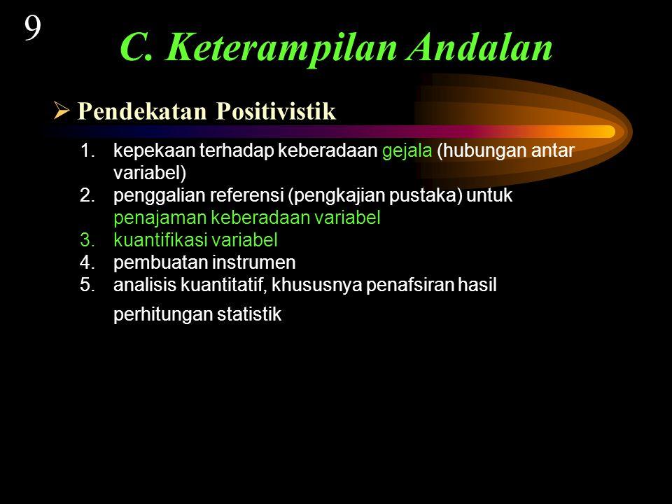  Pendekatan Positivistik C.