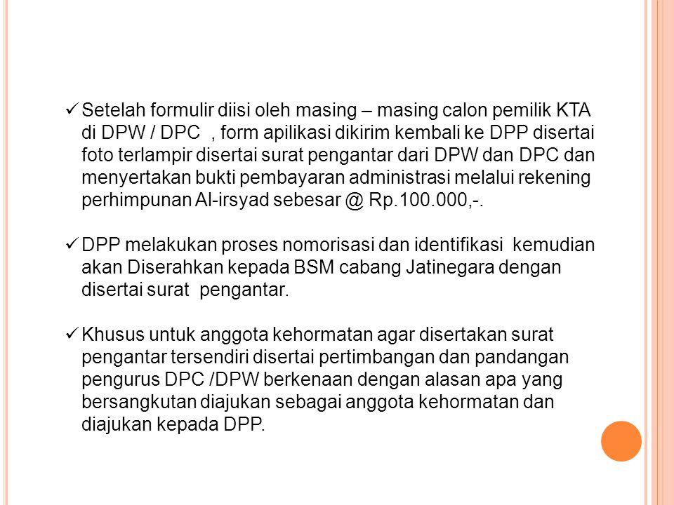 Ketentuan Foto Yang akan dicantumkan di KTA • Untuk DPP dengan background foto berwarna Merah Tua.