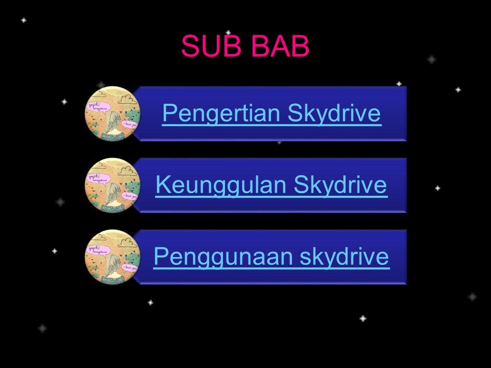 Pernahkah anda mendengar tentang skydrive .