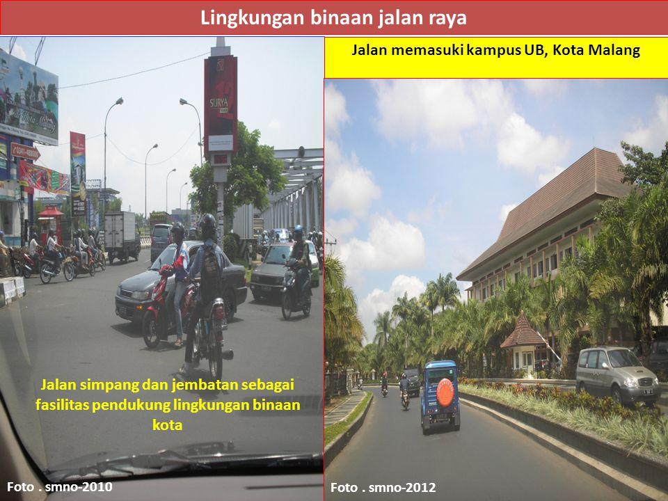 Lingkungan binaan jalan raya Foto.