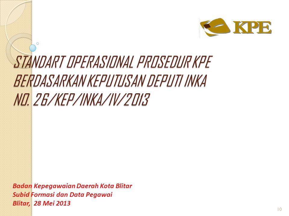 Untuk mewujudkan data yang akurat bagi PNS yang mengikuti pengambilan foto dan sidik jari maka setiap pengelola kepegawaian di masing-masing SKPD untuk :  melaporkan kondisi KPE yang dimiliki setiap pegawai di SKPD-nya sesuai surat yang telah diserahkan.(Surat No : 800/465/410.201.2/2013 perihal Laporan Perkembangan Kondisi KPE.