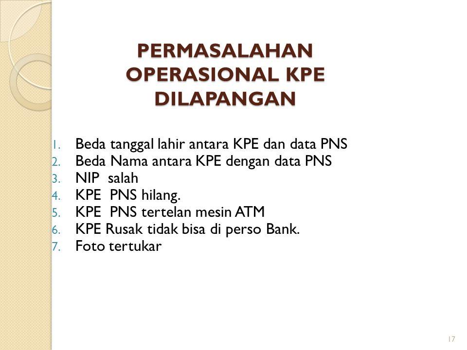 Disain Fisik KPE Memory Usage KPE (Bytes) Main Card for PNS Additional Data for Spouses Additional Data for Children 15% (dari 68 Kb) 10% (dari 68 Kb) Additional Data for Stakeholder 65% (dari 68 Kb) Logo Bank dan featurenya Magnetic Strip 16