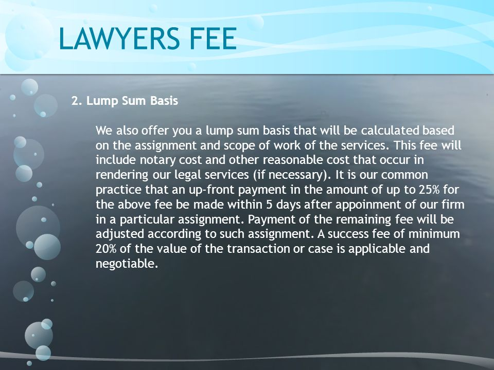 LAWYERS FEE 2.