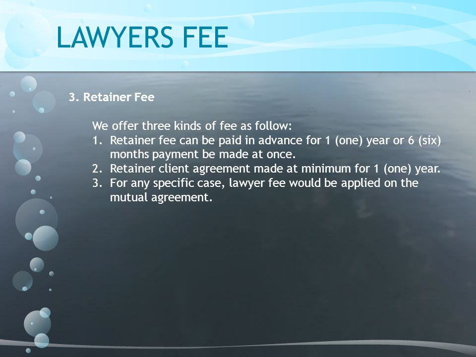 LAWYERS FEE 3.