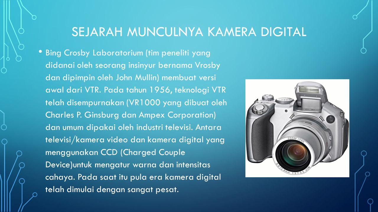 • Pada tahun 1981, Sony memperkenalkan kamera elektronik komersil pertama mereka yang disebut Mavica.