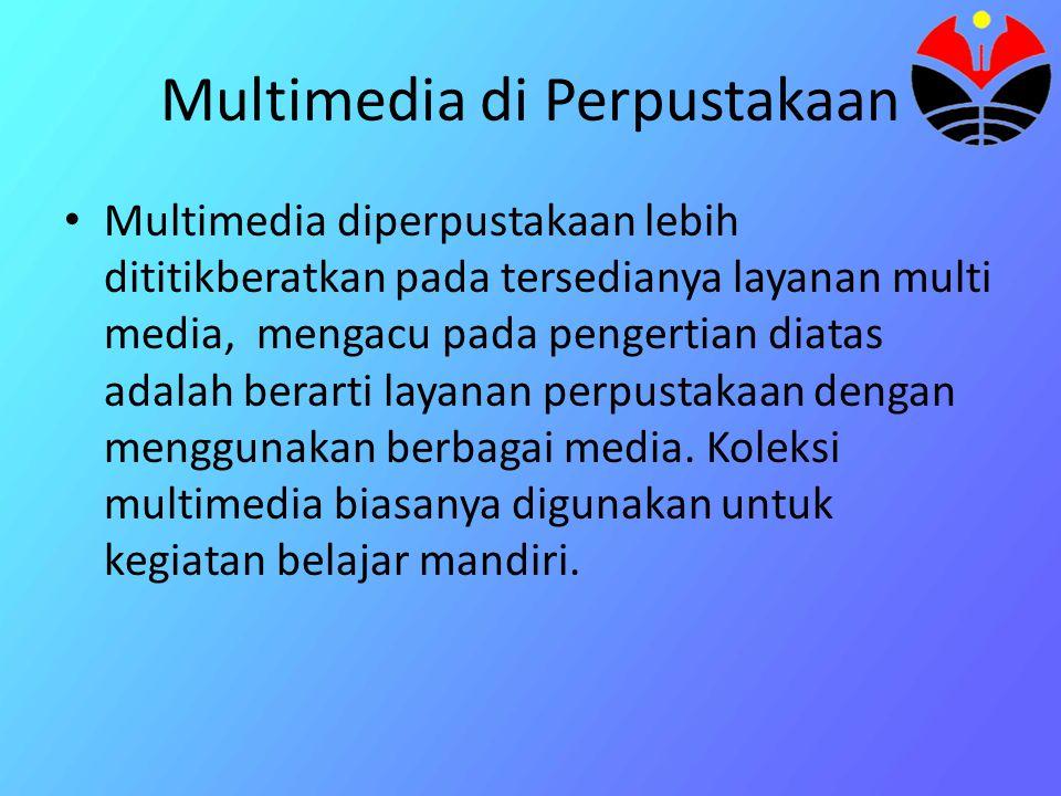 Multi Media • Pengertian : Suatu teknologi yang menampilkan informasi yang menggunakan kombinasi video full-motion, animasi, suara, grafik, dan teks d