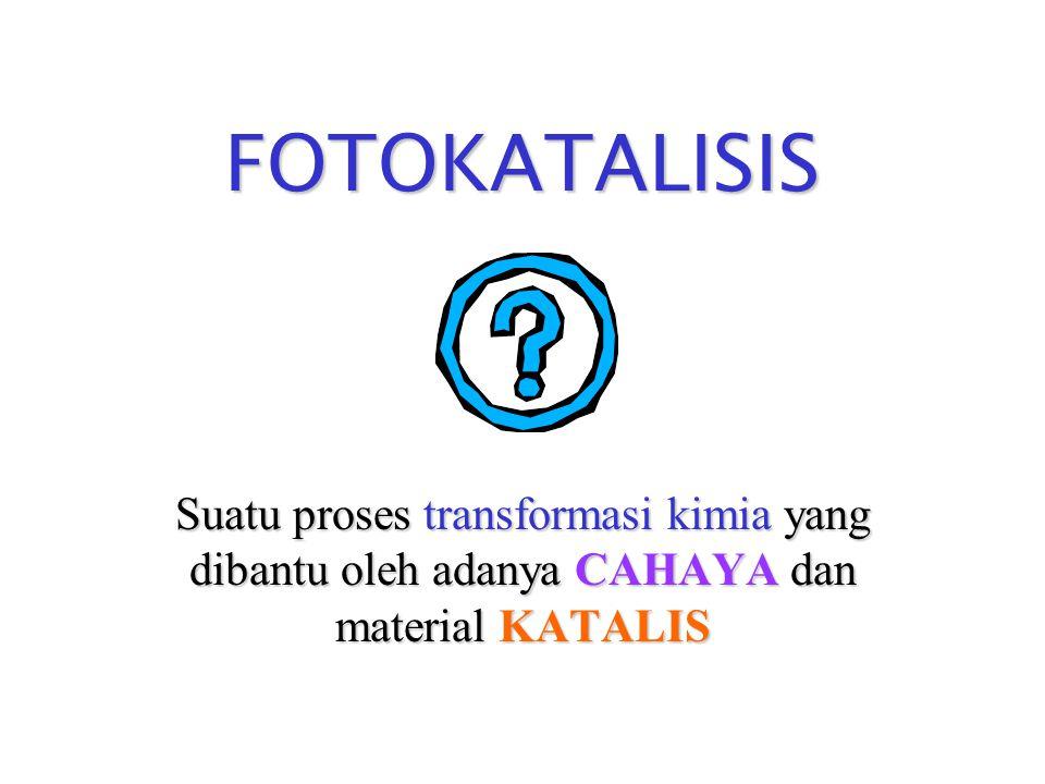 S i l a b u s  Konsep dasar proses foto- katalisis  Termodinamika & kinetika  Mekanisme proses fotokatalisis  Aplikasi fotokatalisis pada produksi