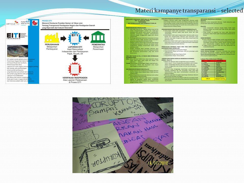 Materi kampanye transparansi – selected