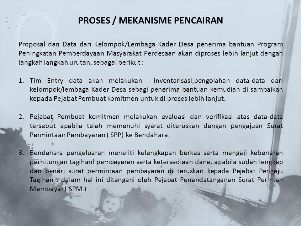 5.Pejabat Penandatanganan SPM melakukan pengajuan atas SPP terebut dan memeriksa ketersediaan dana, dan kebenaran dokumen hak tagih,apabila sudah benar dan lengkap Pejabat Penandatanganan SPM menerbitkan dan menandatangani Surat Perintah Membayar ( SPM ) untuk di ajukan ke kantor Pelayanan Perbendaharaan Negara I jakarta ( KPPN I Jakarta ) 6.Pejabat Penandatanganan SPM melakukan pengajuan atas SPP terebut dan memeriksa ketersediaan dana, dan kebenaran dokumen hak tagih,apabila sudah benar dan lengkap Pejabat Penandatanganan SPM menerbitkan dan menandatangani Surat Perintah Membayar ( SPM ) untuk di ajukan ke kantor Pelayanan Perbendaharaan Negara I jakarta ( KPPN I Jakarta ) 7.KPPN jakarta I melalui seleksi perbendaharaan memeriksa dan menguji kelengkapan persyaratan, apabila sudah lengkap lalu di terbitkan Surat Permintaan Pencairan Dana ( SP2D ) dan di buat rangkap 3 (1 rangkap asli dan 2 foto copy).