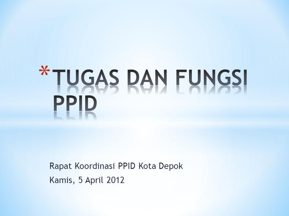 Rapat Koordinasi PPID Kota Depok Kamis, 5 April 2012