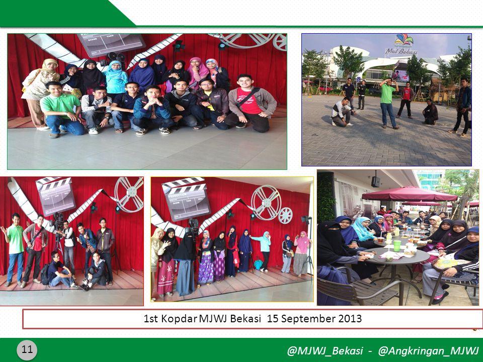 @MJWJ_Bekasi - @Angkringan_MJWJ 11 1st Kopdar MJWJ Bekasi 15 September 2013