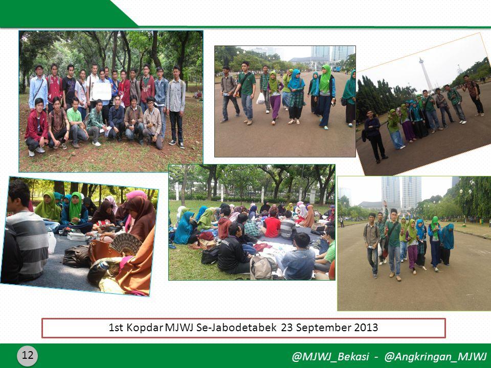 @MJWJ_Bekasi - @Angkringan_MJWJ 12 1st Kopdar MJWJ Se-Jabodetabek 23 September 2013