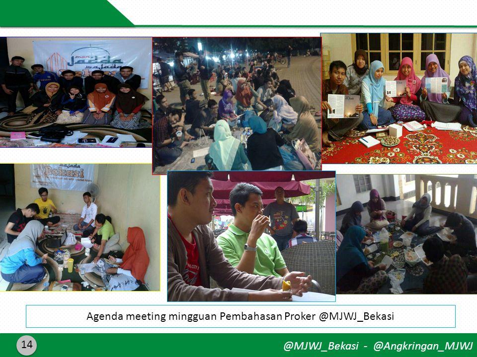 @MJWJ_Bekasi - @Angkringan_MJWJ 14 Agenda meeting mingguan Pembahasan Proker @MJWJ_Bekasi