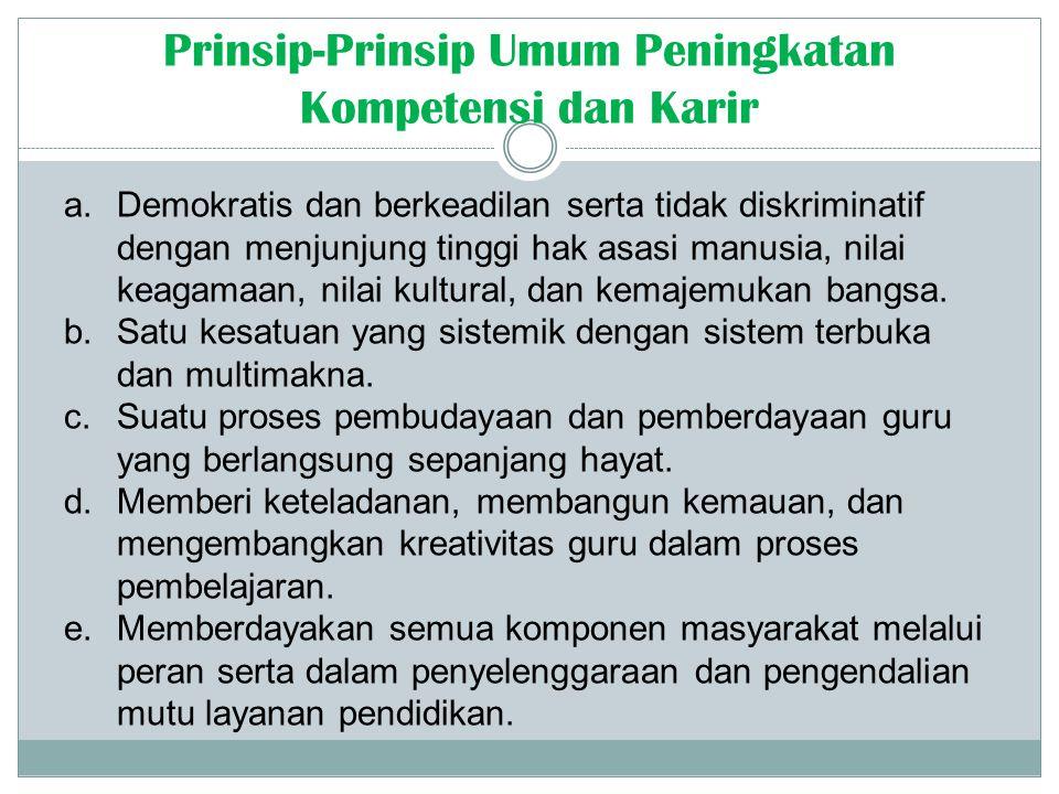 a. Demokratis dan berkeadilan serta tidak diskriminatif dengan menjunjung tinggi hak asasi manusia, nilai keagamaan, nilai kultural, dan kemajemukan b