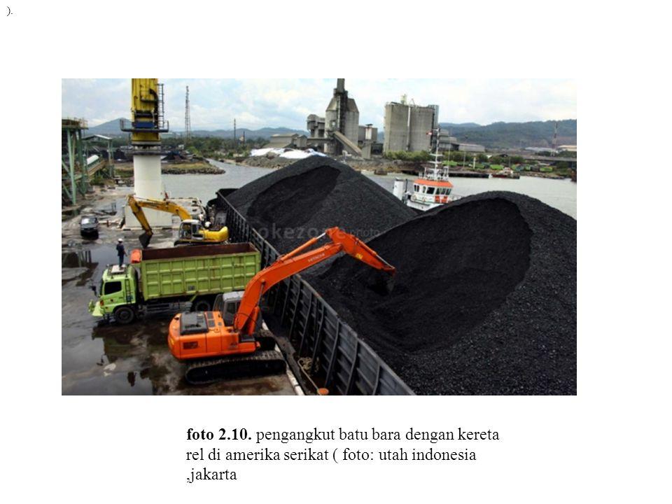 ). foto 2.10. pengangkut batu bara dengan kereta rel di amerika serikat ( foto: utah indonesia,jakarta