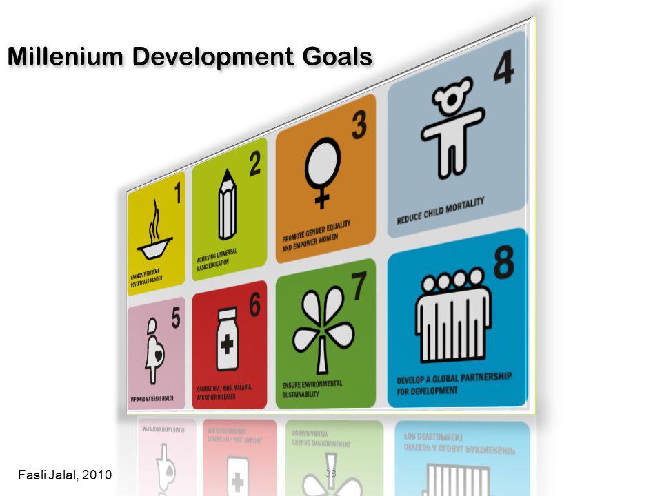 Millenium Development Goals 38 Fasli Jalal, 2010