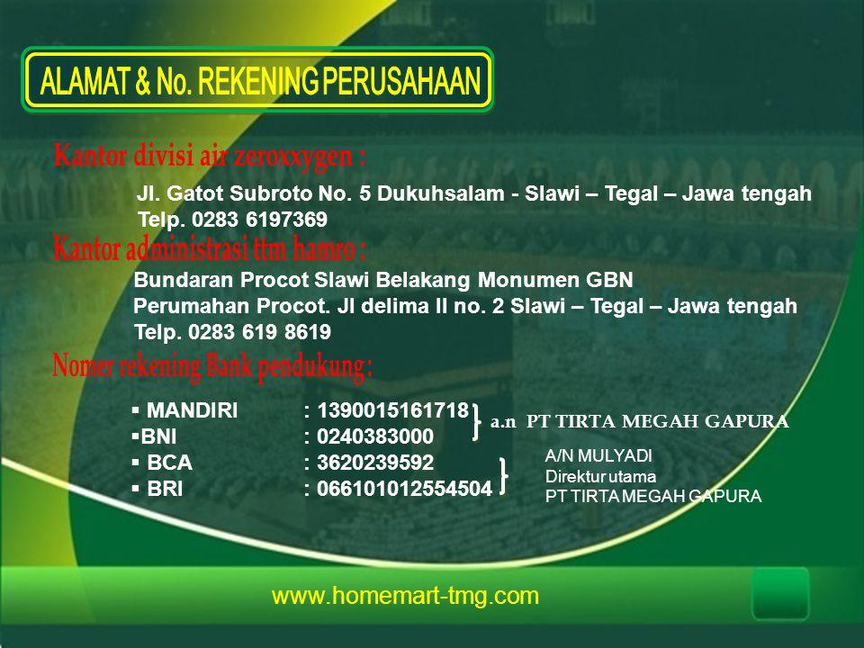www.homemart-tmg.com Jl.Gatot Subroto No. 5 Dukuhsalam - Slawi – Tegal – Jawa tengah Telp.