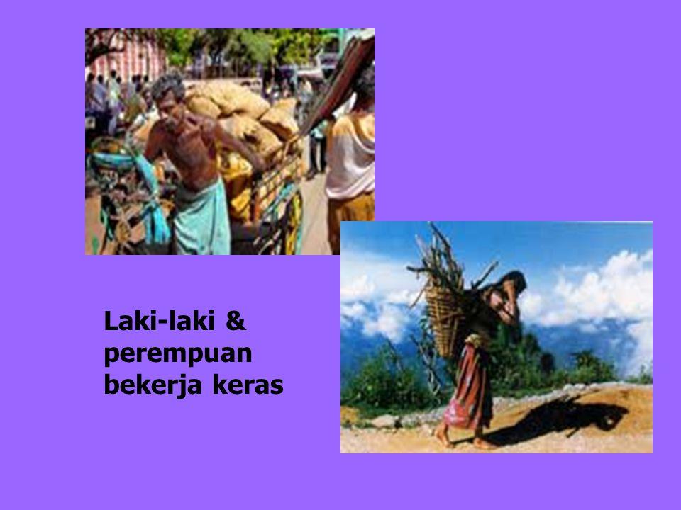 Ketidakadilan gender perempuan>laki-laki Di ranah domestik  Beban kerja perempuan > laki- laki  Kekerasan  Diskriminasi baik anak-anak, remaja, dew