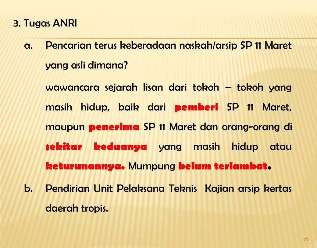 58 - Apakah SP 11 Maret itu hilang atau sengaja dihilangkan ? Sejarah nanti yang mencatat kebenaran ini pada masa datang yang sudah terlanjur 47 tahun