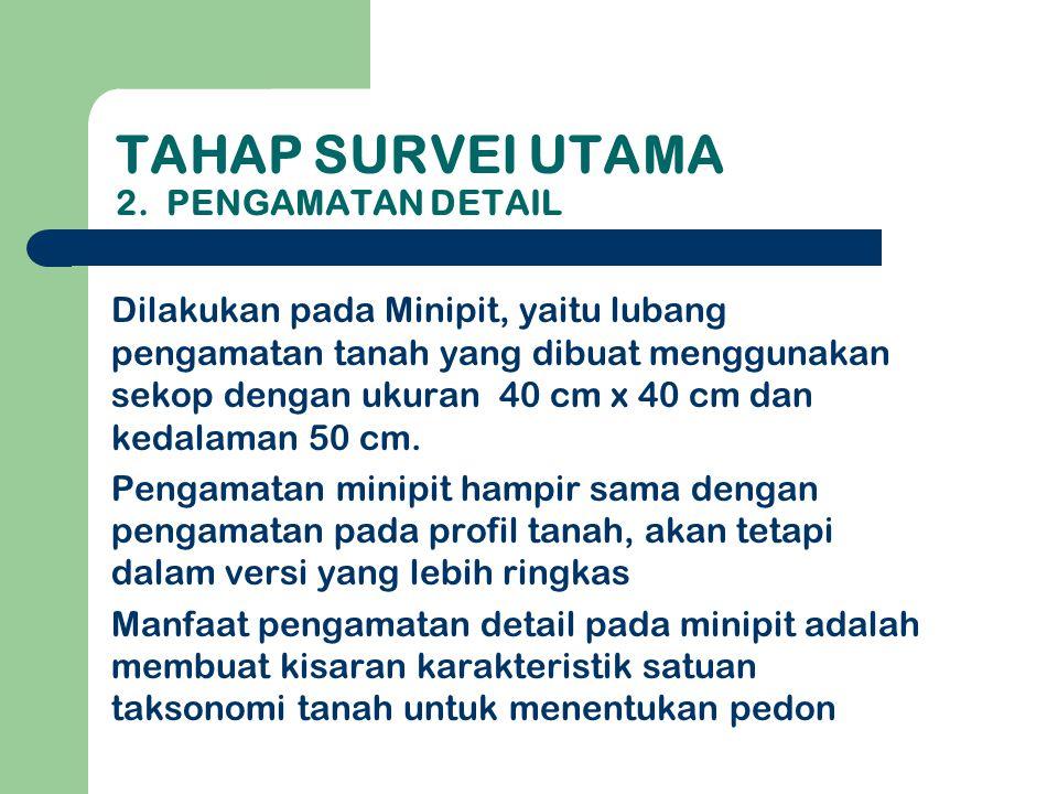 TAHAP SURVEI UTAMA 2.