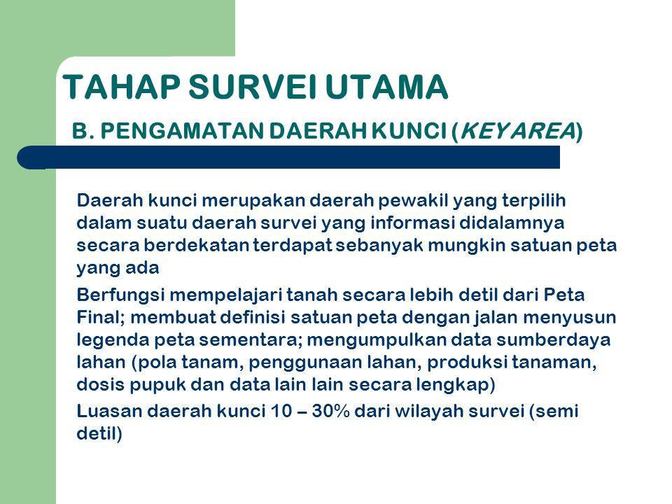 TAHAP SURVEI UTAMA B.