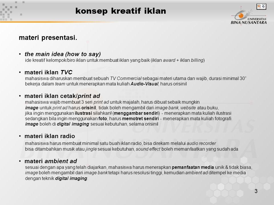 4 konsep kreatif iklan presentasi.