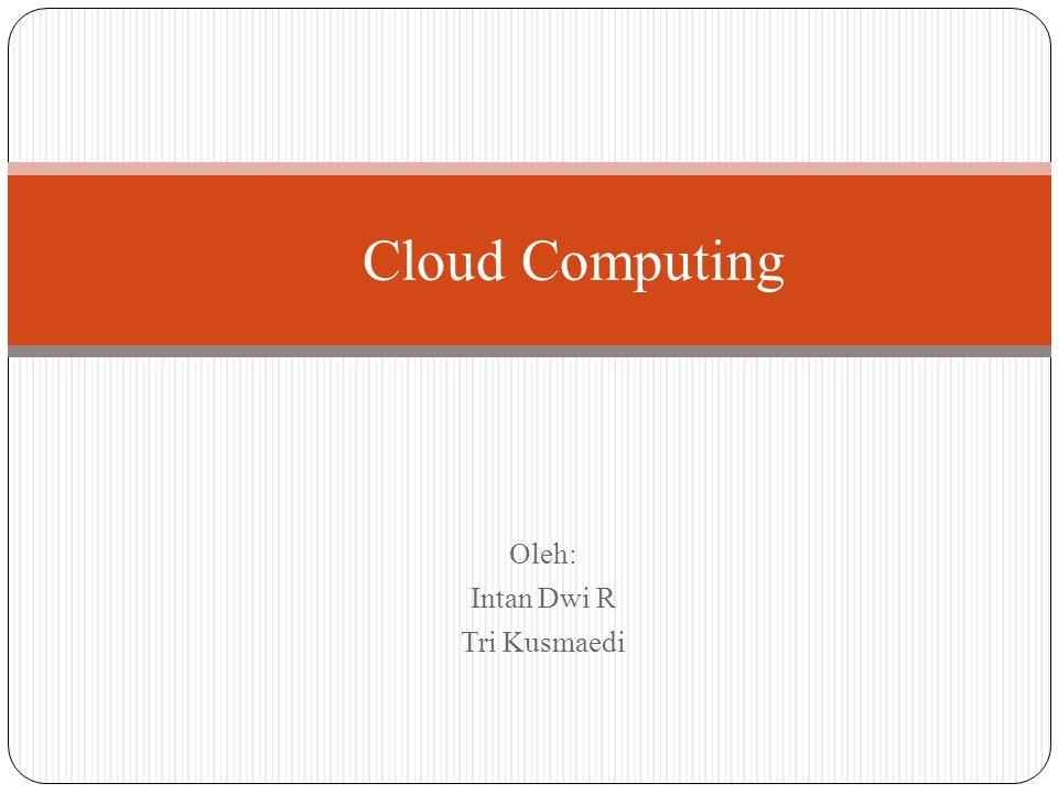 Oleh: Intan Dwi R Tri Kusmaedi Cloud Computing