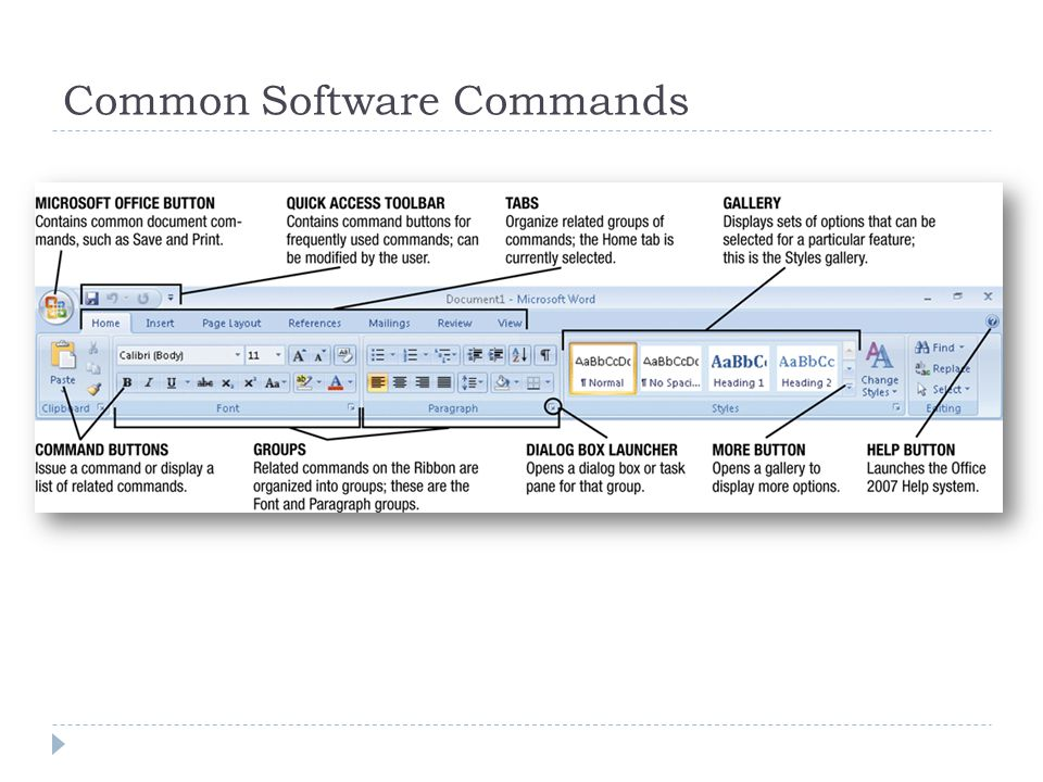 Common Software Commands