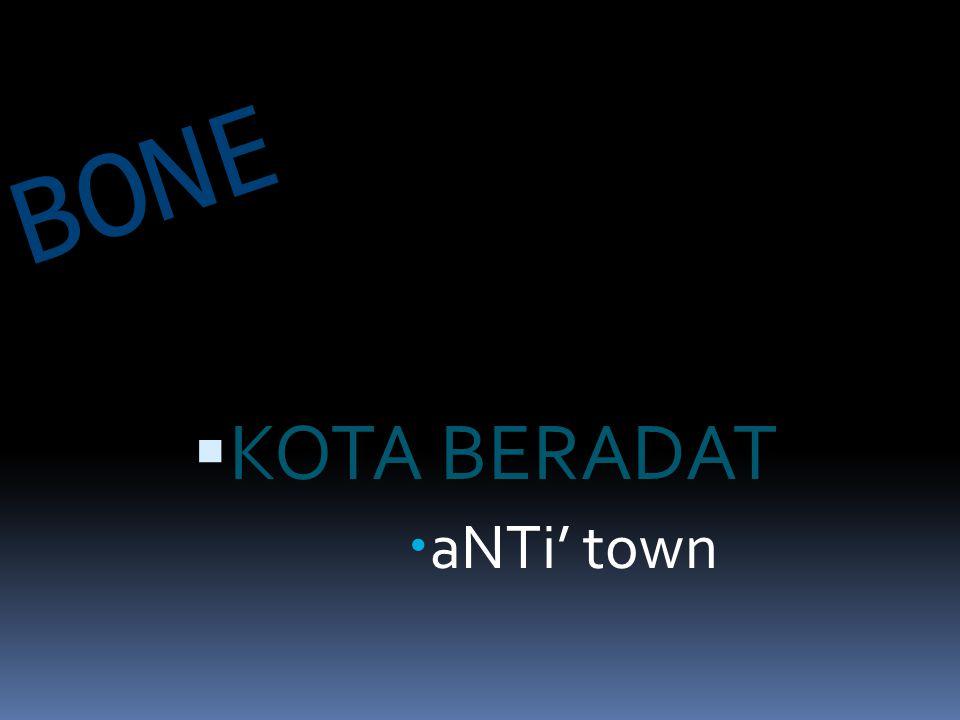 BONE  KOTA BERADAT  aNTi' town