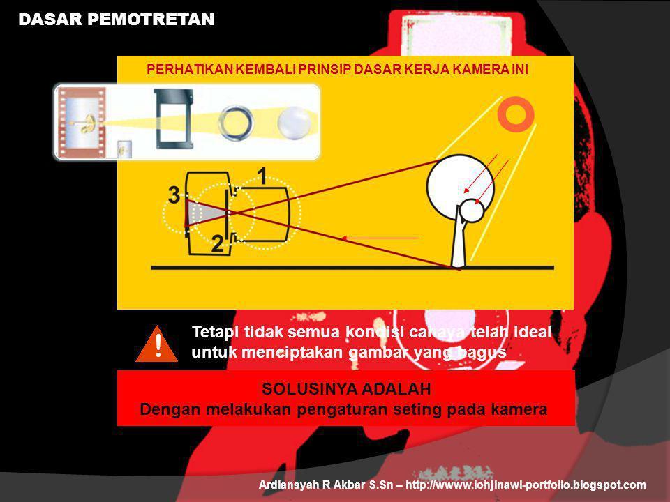 DASAR PEMOTRETAN Ardiansyah R Akbar S.Sn – http://wwww.lohjinawi-portfolio.blogspot.com Tetapi tidak semua kondisi cahaya telah ideal untuk menciptaka