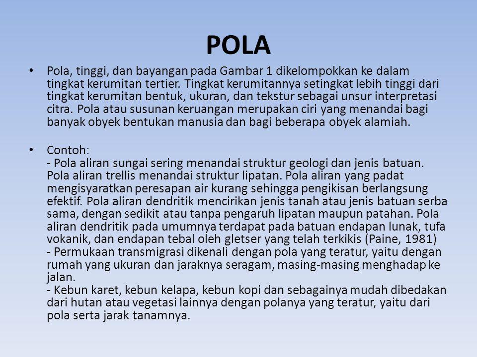 POLA • Pola, tinggi, dan bayangan pada Gambar 1 dikelompokkan ke dalam tingkat kerumitan tertier.