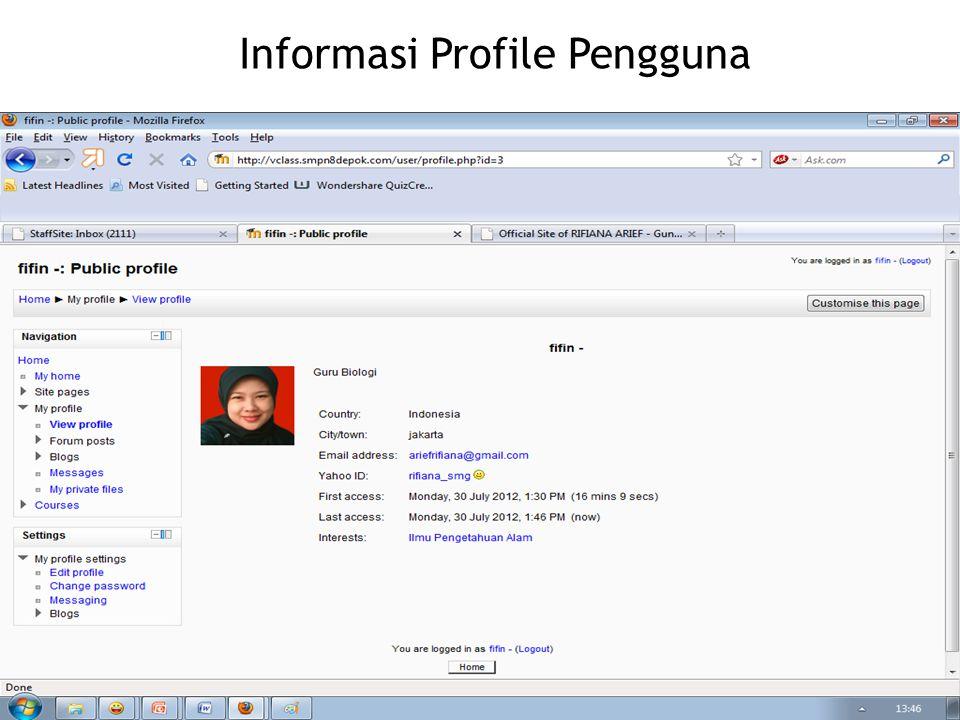 Informasi Profile Pengguna