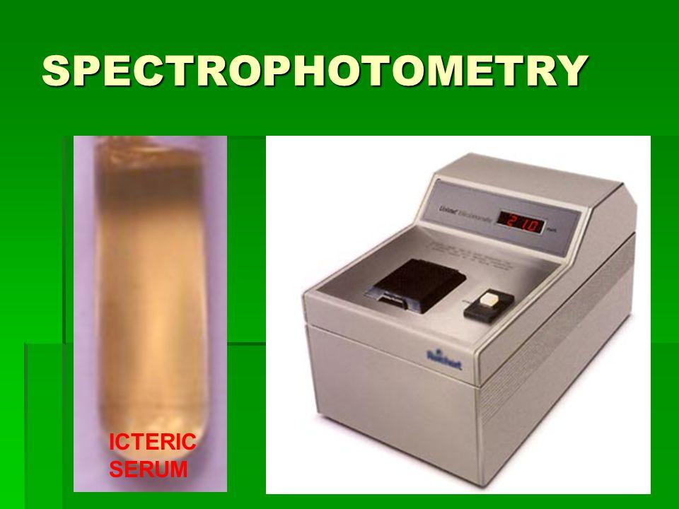 SPECTROPHOTOMETRY ICTERIC SERUM