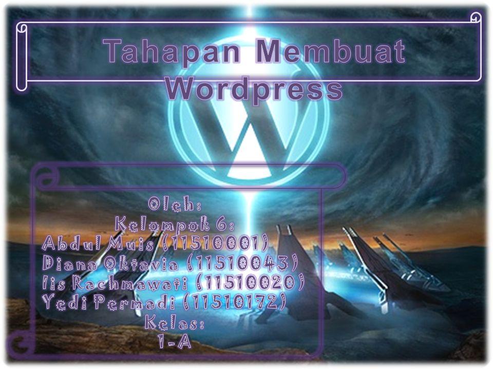 Akun anda sekarang aktif Ini tandanya anda telah log in ke wordpress